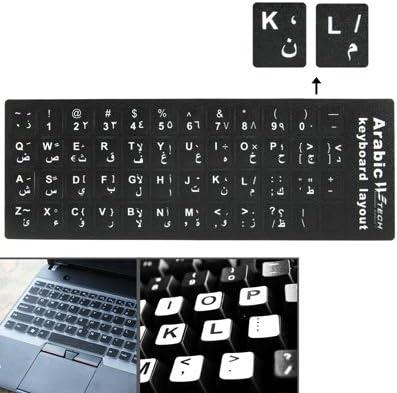 Wireless Mouse Keyboard Standard Layout Keyboard Arabic Learning Keyboard Layout Sticker for Laptop//Desktop Computer Keyboard New Bluetooth Black