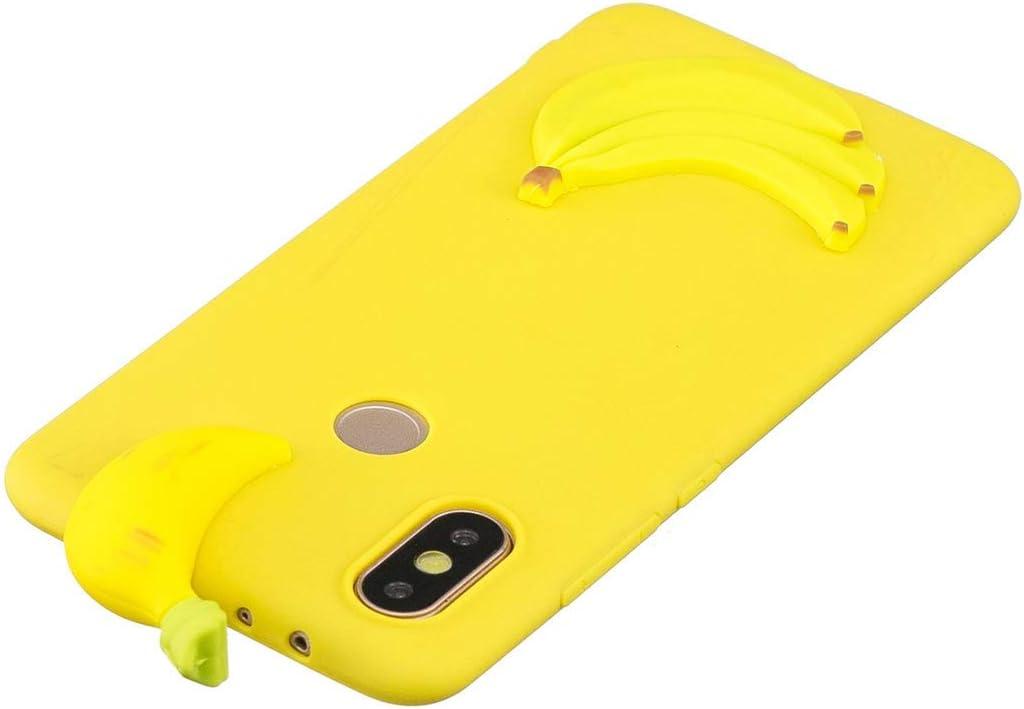 Huiran Funda para Huawei Y6 (2019) Silicona Motivo 3D Divertidas Plátano Bonita TPU Gel Ultrafina Slim Case Antigolpes Cover Protección Carcasa Dibujo Gracioso: Amazon.es: Hogar