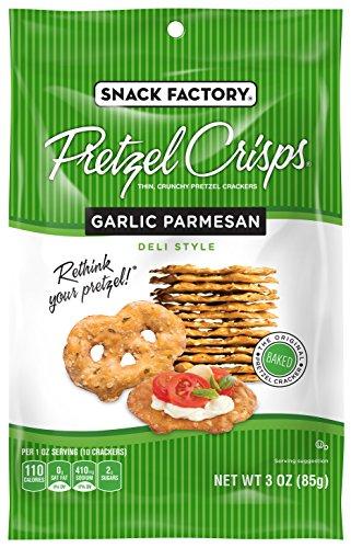Snack Factory Pretzel Crisps, Garlic Parmesan, 3 oz