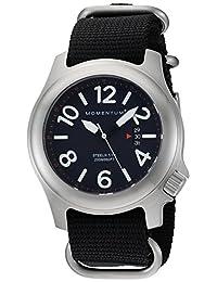Momentum Men's 1M-SP74U7B Steelix Analog Display Japanese Quartz Black Watch
