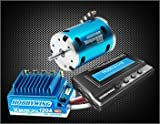 HobbyWing X3A Combo, Xerun-120A-Sd ESC, Sensored 5.5T Motor, Multifunction Program Box, Blue