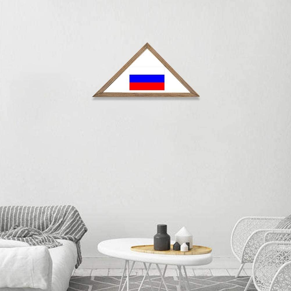 15.8x7.7 inch Solid Wood Flag Display Case Sanmubo Trade Rustic Wooden Flag Stand Case Wall Mounted Decorative Flag Frame for Home Livingroom
