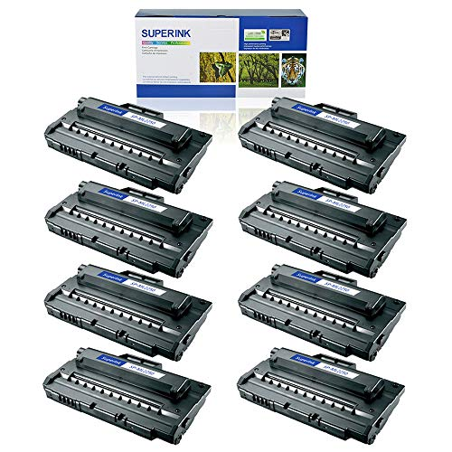 SuperInk 8 Pack High Yield Compatible Toner Cartridge Replacement for Samsung ML-2250 ML-2250D5 Black use in Samsung ML-2250 ML-2251N ML-2251NP ML-2251W ML-2252W Printer ()