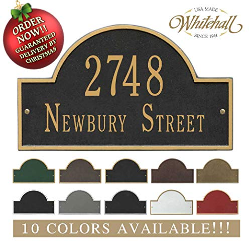 Metal Address Plaque Personalized Cast with Arch top (Large Option). Display Your Address and Street Name. Custom House Number Sign. Order by 12PM PST, DEC. 16TH and GET IT for Christmas!! -