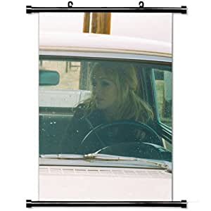 Home Decor Art Movie Poster with Isobel Campbell Mark Lanegan Car Girl Wheel Wall Scroll Poster Fabric Painting 23.6 X 35.4 Inch (60cm X 90 cm)