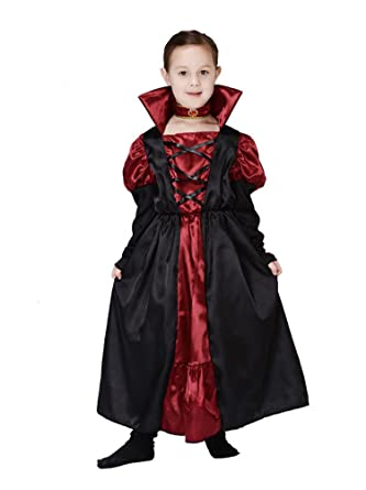 Amazon.com MissFox Halloween Royal Child Woman V&ire Costume 7-9 Years Old Clothing  sc 1 st  Amazon.com & Amazon.com: MissFox Halloween Royal Child Woman Vampire Costume 7-9 ...