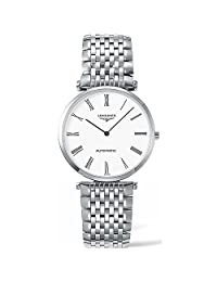 Longines Women's Steel Bracelet & Case Sapphire Crystal Automatic White Dial Analog Watch L49084116