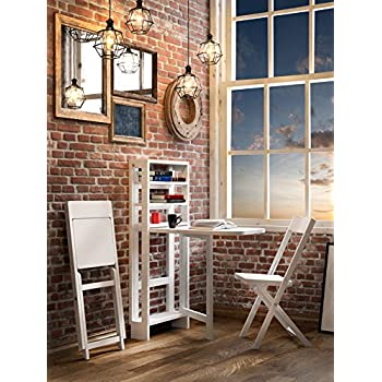 FLAT Hinged Small Wall Table Set 3 Pic (Table U0026 2 Chairs) |