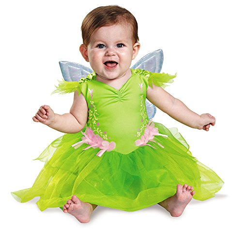 Tinkerbell Costume Baby Girl (Disguise Baby Girls' Tinker Bell Deluxe Infant Costume, Green, 12-18 Months)