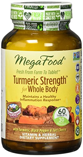 MegaFood - Turmeric Strength for Whole Body, Supports Healthy Aging, 60 Tablets (FFP)