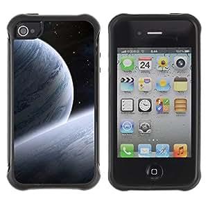 Paccase / Suave TPU GEL Caso Carcasa de Protección Funda para - Space Planet Galaxy Stars 30 - Apple Iphone 4 / 4S