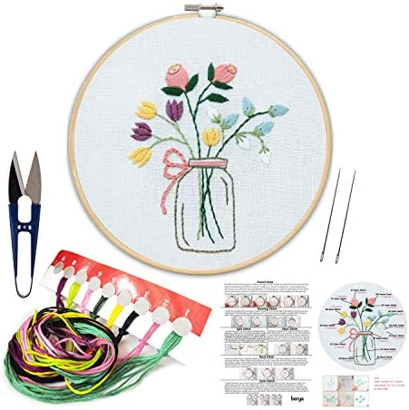Embroidery Including Beginners Handmade Needlepoint Kids%EF%BC%88Flowers%EF%BC%89 product image