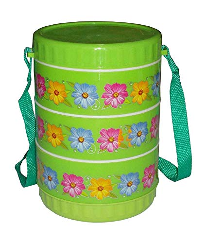 Grivety Lunch Box Insulated Tiffin Box  3 SS Container