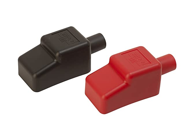 "Sea Dog 415115-1 5/8"" Battery Terminal Covers - Red/Black, Packaged"