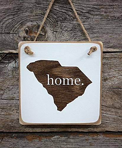 South Carolina Home Ornament - South Carolina Decor - South Carolina Gift (small keepsake 4 inches by 4 inches in size)