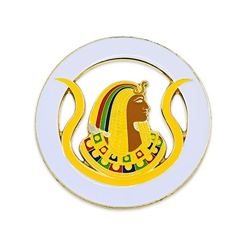 "DOI Daughters of Isis Round White & Gold Masonic Auto Emblem - 3"" Diameter from The Masonic Exchange"