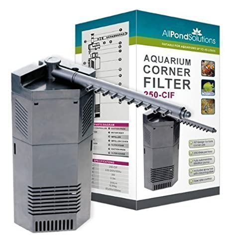 250L/H Acuario Interno Pecera Esquina Filtro Bomba Todas Las Soluciones Para Estanques 250-CIF: Amazon.es: Hogar