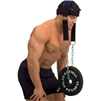 Wandofo arnés para la Cabeza con Cadena Ajustable para el Cuello, cinturón de Entrenamiento para Gimnasio, Fitness, Levantamiento de Pesas