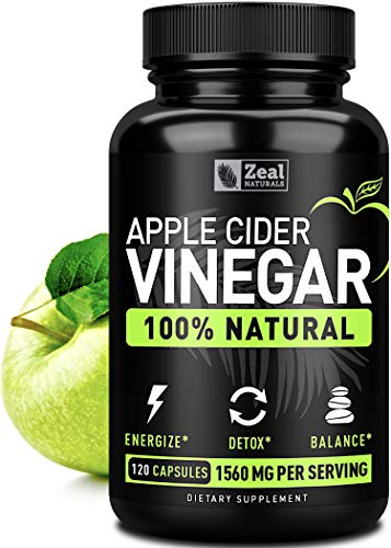 100% Natural Raw Apple Cider Vinegar Pills (1560mg | 120 Capsules) Apple Cider Vinegar with Cayenne Pepper for Fast Weight Loss Cleanse, Appetite Suppressant & Bloating Relief - Vegan, from the Mother (Slim Fast 180 And Apple Cider Vinegar)