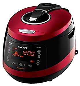 Cuckoo CRP-HW1087F 10 Cup Pressure Rice Cooker, 110V, Vivid Wine