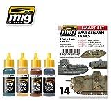 Ammo of Mig WWI GERMAN TANKS Acrylic Colors Set 4 Jars 17ml #7144