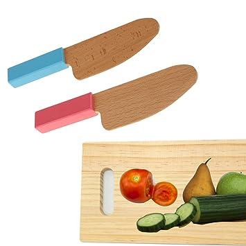 Amazon.com: Sunormi - Juego de cuchillos de madera y tabla ...