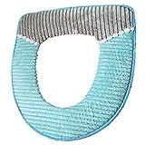 Soft Bathroom Warmer RUNYUU Washable Corduroy Stripe Pattern Toilet Seat Cover Pads