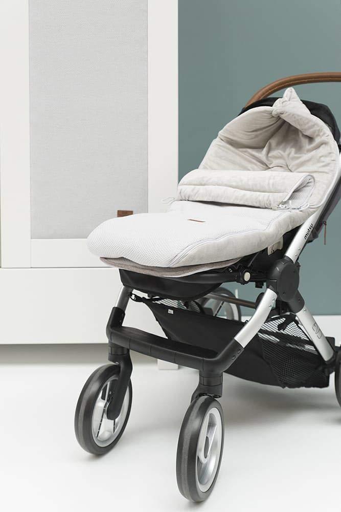 BO Babys Only 98x52 cm f/ür Jungen und M/ädchen Buggysack Blush Gef/ütterte Fu/ßsack aus Baumwolle f/ür einen Buggy