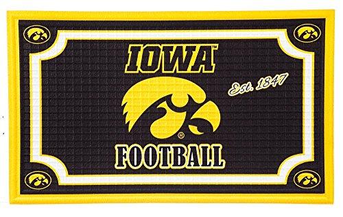 - Team Sports America 41EM980 Iowa Embossed Door Mat, Multicolor