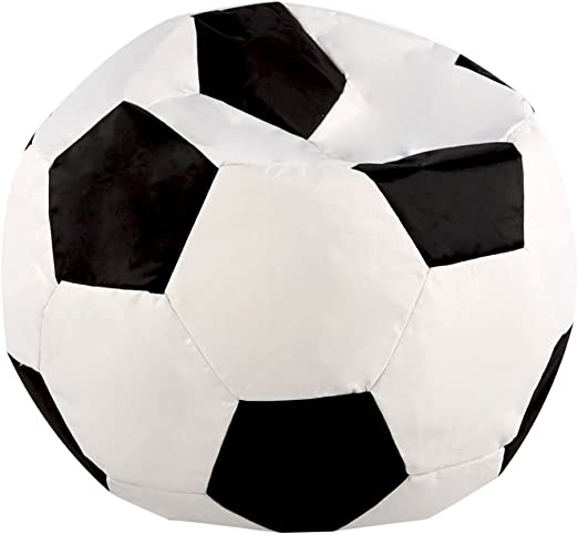 Bean Bag Planet Kids Asiento Puff, diseño de balón de fútbol ...