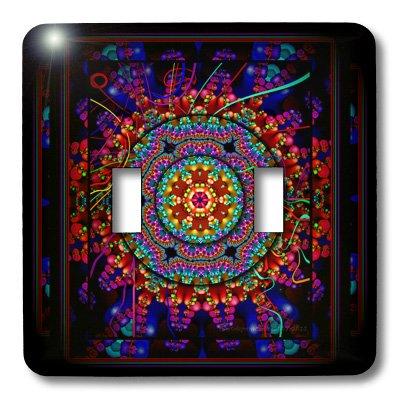 3dRose lsp_24832_2 Mandala 4 Mandala India Buddhism Hinduism Psychedelic New Age Harmony Balance Meditation Double Toggle Switch by 3dRose (Image #2)