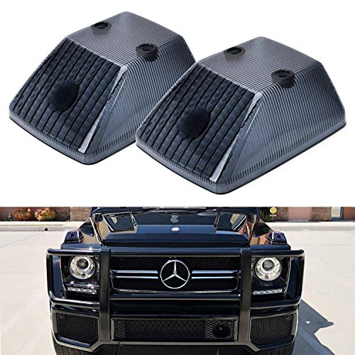 iJDMTOY Gloss Black Front Turn Signal Lamp Lenses For, used for sale  Delivered anywhere in USA