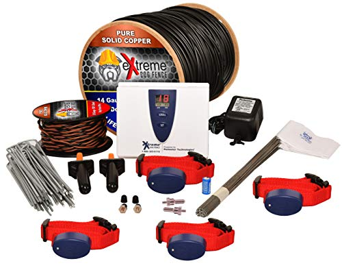 Underground Electric Dog Fence Ultimate – Extreme Pro Dog Fence System for Easy Setup and Maximum Longevity and Continued Reliable Pet Safety – 4 Dog | 2500 Feet Pro Grade Dog Fence Wire