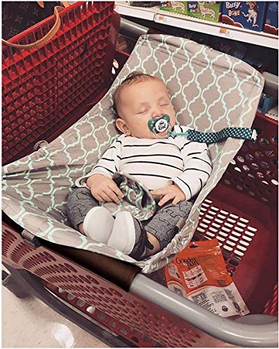 Best Price Baby Shopping Cart Hammock, Cart Cover for Newborn,Toddler and Twins, Grey