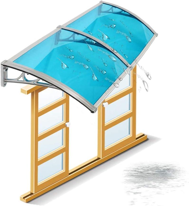 Marquesina Puerta Exterior QIANDA PC Policarbonato Puerta Principal Porche Techo Pabellón Lluvia Toldo Sombra Protección del Refugio (Color : Blue, Size : 60cmx200cm): Amazon.es: Jardín