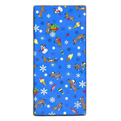 (Snowman Dog Candy Snowflake Microfiber Multi-Purpose Cleaning Towels Perfect for Kitchens, Dishes, Car, Dusting, Drying Rags, 27.5 X 11.8 Inches)