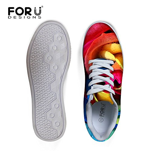 3 Shoes Casual Rose Women DESIGNS U Skateboard Sneakers Fashion Floral Print FOR Rose fx4AZR7qn