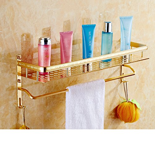 cheap European gold bathroom rack/space aluminium towel rail/ bathroom wall rack-A
