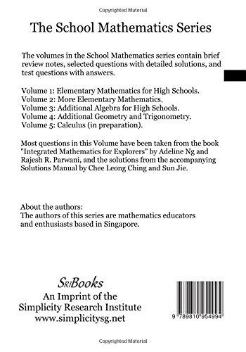 School Mathematics: Volume 4, Additional Geometry and Trigonometry