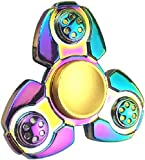 Emob Ckf Rainbow Heavy Metal Fidget Hand Spinner Toy with Low - Friction Technology and Long Spinning Time