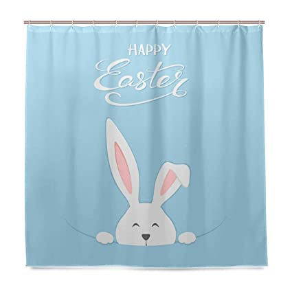 Amazon WXLIFE Cute Rabbit Hare Easter Bunny Shower Curtain