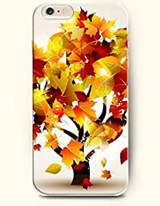 SevenArc Phone Case for iPhone 6 Plus 5.5 Inches with the Design of Yellow Leaves and Tree