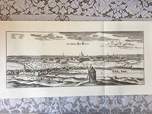 - Hannover Germany Copperplate Engraving Matthäus Merian 1654