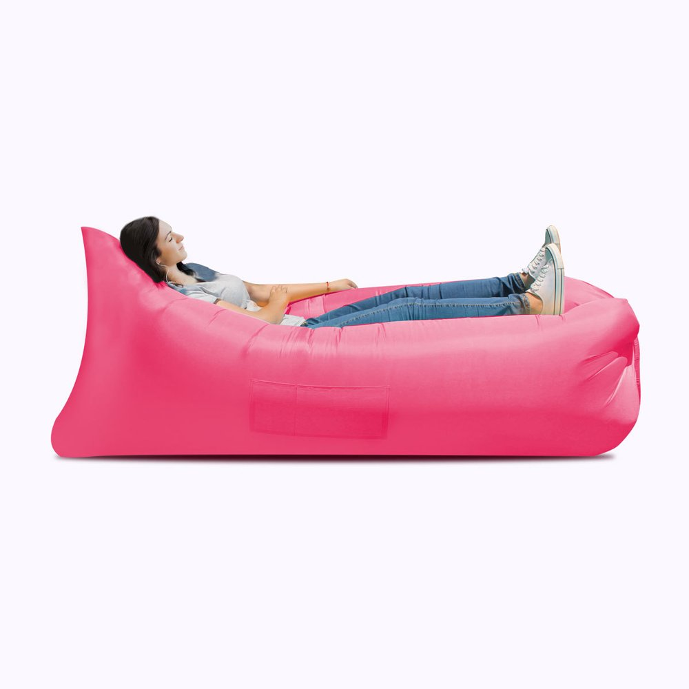 Inflatable Bed Inflatable Sofa Bed, Inflatable Bed, Portable Waterproof Leak-proof Air Cushion Sofa Bed, Camping Supplies, Hiking Air Chair ( Color : Red ) by JYKJ