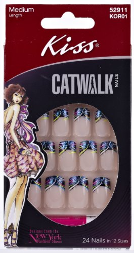 Kiss Products, Inc. Kiss Catwalk 24 Piece False Nails, Lights