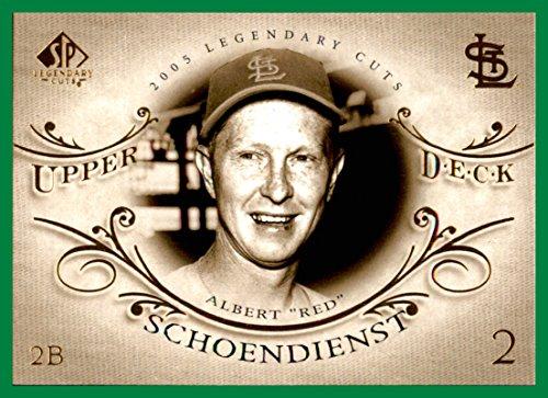 2005 SP Legendary Cuts #65 Red Schoendienst st. louis cardinals ()