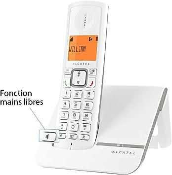 Alcatel Versatis F 230 - Teléfono fijo inalámbrico, blanco/gris [Importado]: Amazon.es: Electrónica