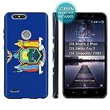 zte zmax phone cases new york - ZTE Blade Z Max/ZTE ZMax Pro 2/ZTE Sequoia/ Z982 Phone Case [ArmorXtreme] [Black] Designer Image [Flexi Gel TPU] [Screen Protector]- [New York Flag] for ZTE Blade Zmax Pro 2/ZTE Sequoia
