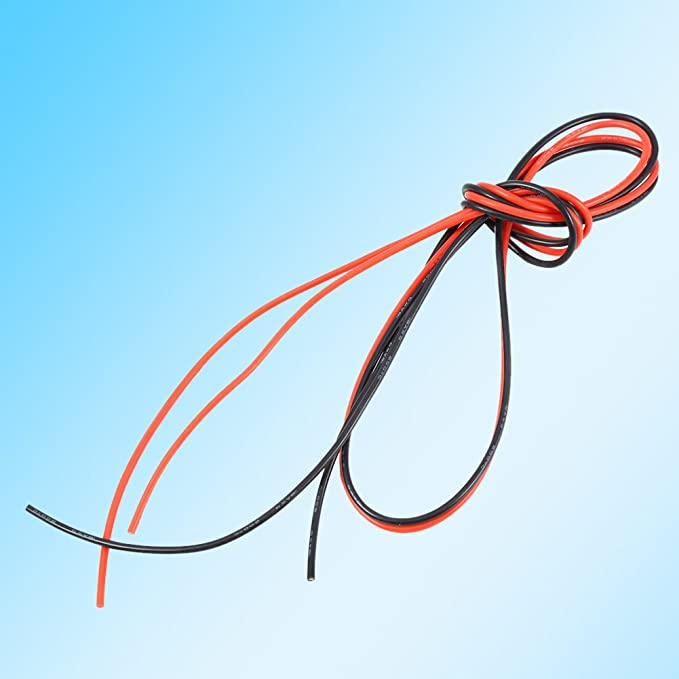 1 Meter Red + 1 Meter Black 2M 18AWG Cable Cord Copper Stranded Wire Dilwe Stranded Wire