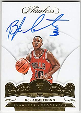 Amazoncom Bj Armstrong 2017 18 Panini Flawless Gold On Card Auto